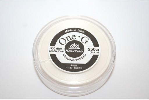 Filo Nylon Toho One-G Bianco 0,20mm - 229mt.