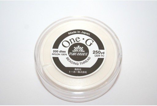 Toho One-G Nylon Thread 0,20mm White 229m