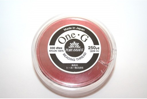 Toho One-G Nylon Thread 0,20mm Red 229m