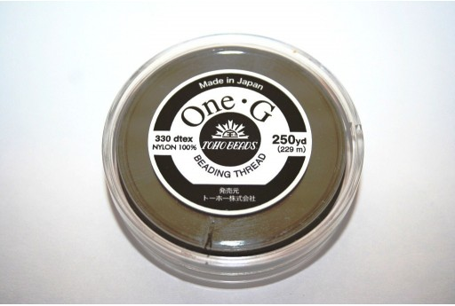 Toho One-G Nylon Thread 0,20mm Black 229m