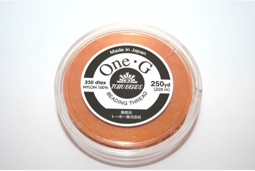 Toho One-G Nylon Thread 0,20mm Orange 229m