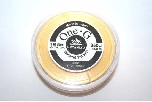 Toho One-G Nylon Thread 0,20mm Yellow 229m