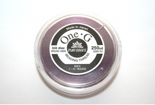 Toho One-G Nylon Thread 0,20mm Purple 229m