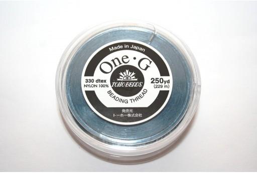 Filo Nylon Toho One-G Blue 0,20mm - 229mt.