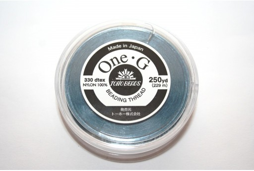 Toho One-G Nylon Thread 0,20mm Blue 229m