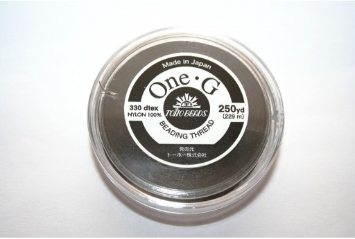 Toho One-G Nylon Thread 0,20mm Brown 229m