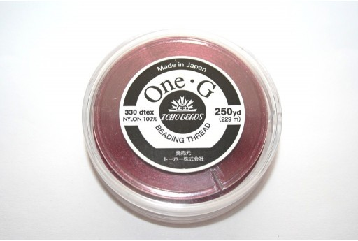 Toho One-G Nylon Thread 0,20mm Bordeaux 229m