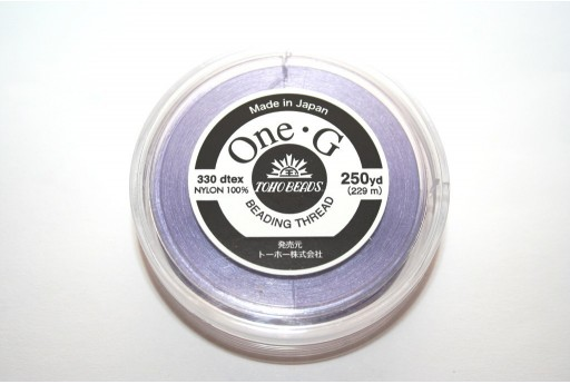 Toho One-G Nylon Thread 0,20mm Lavender 229m