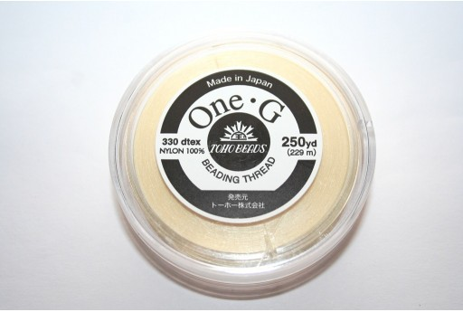 Toho One-G Nylon Thread 0,20mm Cream 229m