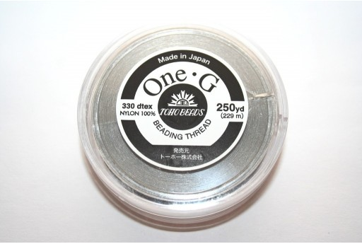 Toho One-G Nylon Thread 0,20mm Light Gray 229m