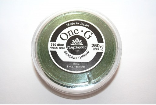 Toho One-G Nylon Thread 0,20mm Green 229m