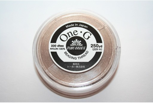 Filo Nylon Toho One-G Beige 0,20mm - 229mt.