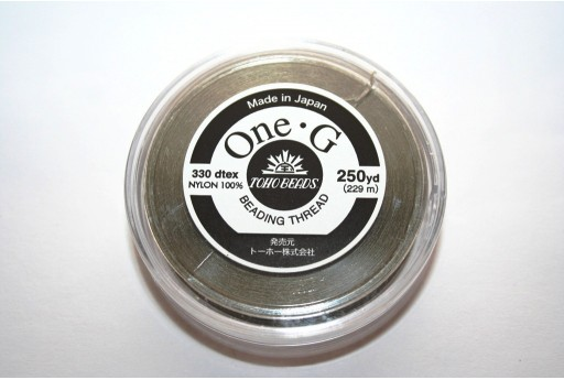 Toho One-G Nylon Thread 0,20mm Khaki 229m