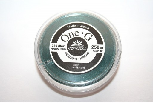 Toho One-G Nylon Thread 0,20mm Dark Green 229m