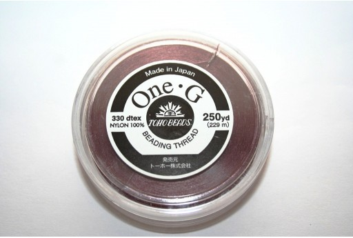 Toho One-G Nylon Thread 0,20mm Mauve 229m