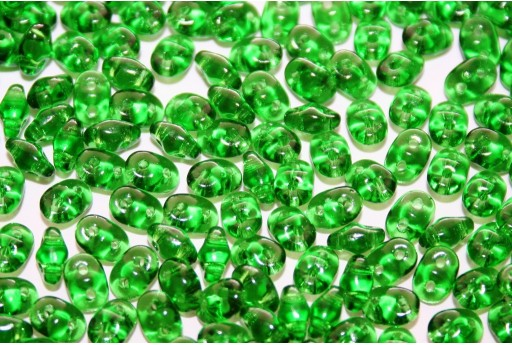 Perline Superduo Green 5x2,5mm - 10g