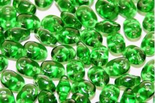 Perline Superduo Green 5x2,5mm - 10g