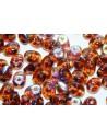 Perline Superduo Smoky Topaz AB 5x2,5mm - 10gr