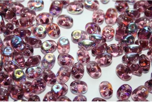 Perline Superduo Amethyst AB 5x2,5mm - 10gr