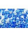 Perline Superduo Sapphire AB 5x2,5mm - 10gr