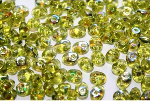 Perline Superduo Olivine AB 5x2,5mm - 10gr