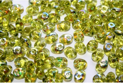 Perline Superduo Olivine AB 5x2,5mm - 10g