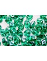 Perline Superduo Emerald AB 5x2,5mm - 10gr