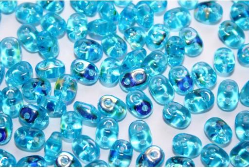 Perline Superduo Aquamarine AB 5x2,5mm - 10gr