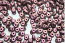 Perline Superduo Polychrome Pink Olive 5x2,5mm - 10gr