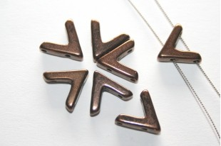 Ava® Beads Jet Bronze 10x4mm - 10pcs