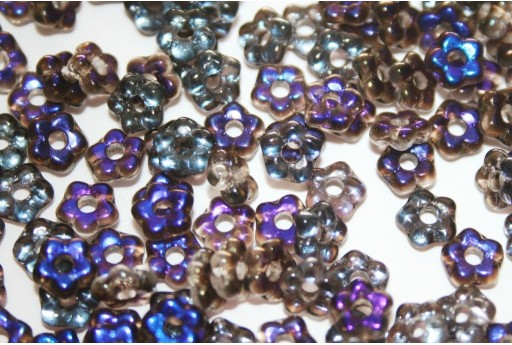 Flower Beads Crystal Azuro 5mm - 50pcs