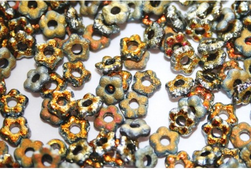 Flower Beads Etched Full Marea 5mm - 50pcs
