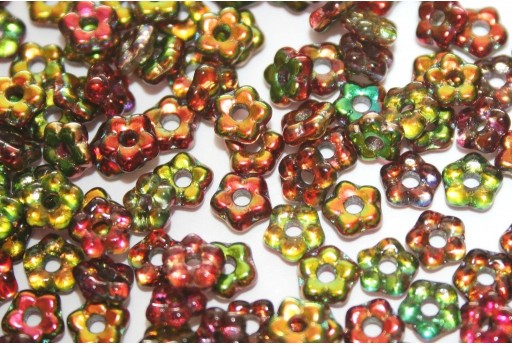 Flower Beads Crystal Magic Apple 5mm - 50pcs