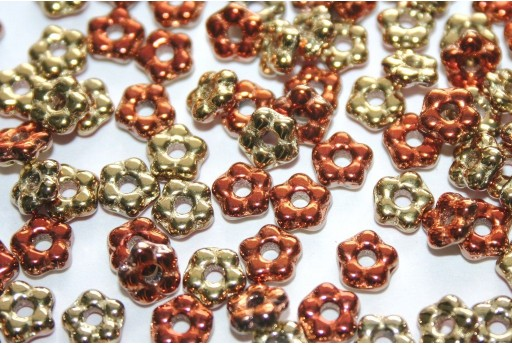 Flower Beads Jet California Gold Rush 5mm - 50pcs