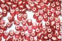Superduo Beads Halo-Cardinal 5x2,5mm - 10gr