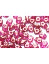 Superduo Beads Halo-Madder Rose 5x2,5mm - 10gr