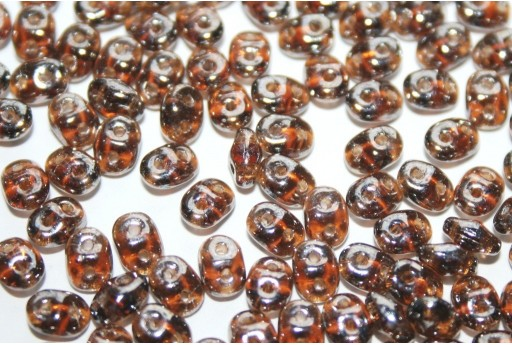 Superduo Beads Luster-Smoky Topaz 5x2,5mm - 10gr