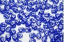 Superduo Beads Hematite-Opaque Blue 5x2,5mm - 10gr