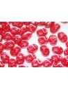 Superduo Beads Luster-Opal Red 5x2,5mm - 10gr