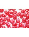 Superduo Beads Luster Coral Red 5x2,5mm - 10gr