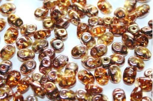 Superduo Beads Copper-Topaz 5x2,5mm - 10gr
