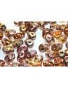 Perline Superduo Copper-Topaz 5x2,5mm - 10gr