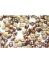 Superduo Beads Opaque Ivory Capri Gold 5x2,5mm - 10gr