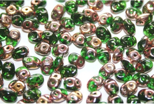 Perline Superduo Chrysolite Capri Gold 5x2,5mm - 10gr