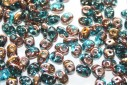 Superduo Beads Copper-Aqua 5x2,5mm - 10gr