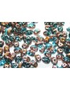 Superduo Beads Copper-Aqua 5x2,5mm - 10gr
