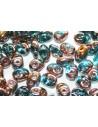 Perline Superduo Copper-Aqua 5x2,5mm - 10gr