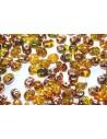 Superduo Beads Amber Capri Gold 5x2,5mm - 10gr