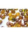 Perline Superduo Amber Capri Gold 5x2,5mm - 10gr