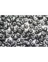 Superduo Beads Tweedy Silver 5x2,5mm - 10gr